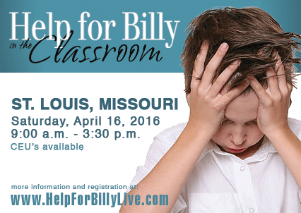 Help for Billy Live School-Based Training